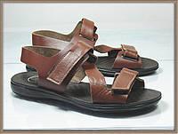 Стильные женские сандали - босоножки  рыжие