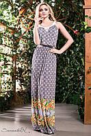Романтическое и легкое летнее платье сарафан в пол с цветами 42-52 размеры