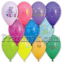 Воздушные шары с рисунком ассорти