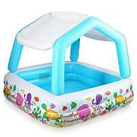 Надувной бассейн, детский бассейн Intex 57470, Аквариум, Надувное Дно! Съемная крыша! квадратный, 280 л, 157-1