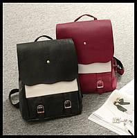 Оригинальный женский рюкзак со вставкой. Высокое качество. Доступная цена. Удобный рюкзак. Код: КДН133