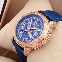 Астрономические часы Patek Philippe Grand Complications 6002 Sky Moon Tourbillon - цвет золото в синем