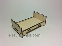 Кукольная мебель Кроватка  (для куклы 8 см, Лалалупси, Свинки Пеппа, феи)