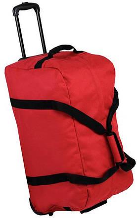 Дорожная яркая сумка 83 л. Members Holdall On Wheels Medium 83, 922562 красный