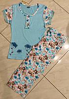 Трикотажная Пижама женская с капри Metin размеры S,M,L
