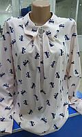 Нарядная и красивая блуза с бантиками размер L