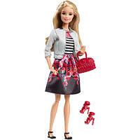 Кукла  Барби Модница делюкс Barbie Style White Jacket & Black Floral Print Skirt