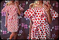 """Платье женское из хлопка с открытыми плечами """"Fiesta"""""""