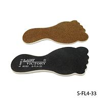 Пилка Lady Victory для педикюра S-FL4-33 наждачная на пластиковой основе в форме стопы, двухсторонняя,