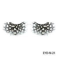 Ресницы декоративные накладные Lady Victory EYD-N-21 из натуральных перьев