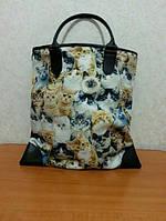 Модная женская сумка с оригинальным принтом