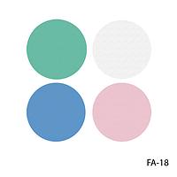 Спонжи FA-18 для нанесения и снятия макияжа (4 шт, круглые, разноцветные)