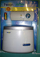 Беспроводной звонок Feron D-238 со светодиодной индикацией и влагозащитной кнопкой
