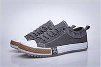 Кеды мужские Converse New Collection Grey/White  в сером цвете низкие