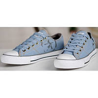 Кеды мужские Converse Retro Light Blue в голубом цвете низкие