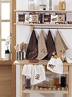 Подарочный набор кухонных полотенец в коробке Yagmur Ekmek Desen 3*40х70