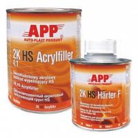 Автомобильный грунт APP HS Acryfiller 4:1 (1л) + отвердитель APP HS Harter FHN100 (0,25л), черный
