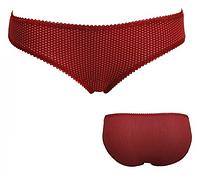 """Трусики мини бикини женские """"Ego"""" GF 09(093) ( 2 шт в уп) Must Have  цвет красный в белый горошек"""
