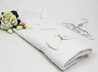 """Летний конверт для новорожденного """"Мария"""" на тонком утеплителе (белый)"""