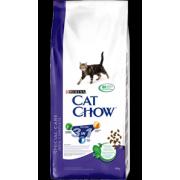 Cat Chow Feline 3 в 1 для взрослых кошек с индейкой - 15 кг