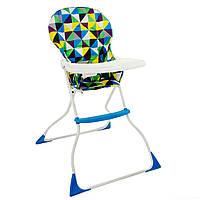 Компактный детский стульчик для кормления Абстракция ромбик