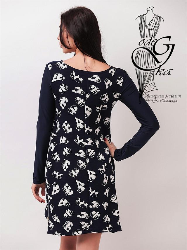 Фото-2 Модных женских платьев Даяна с длинным рукавом