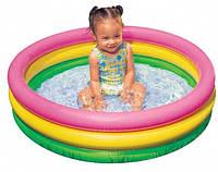 Красивый детский бассейн, Надувной бассейн Intex 58924, для самых маленьких, 86 х 25 см, обьем 68 л