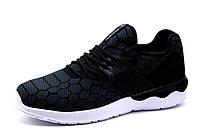 Кроссовки Adidas Tubular, текстиль, мужские, серо-черные, фото 1