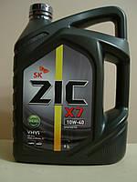 Моторное масло ZIC X7 DIESEL 10w40 (6 литров) (старое название ZIC RV 10w40) Сертификат