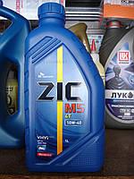 Полусинтетическое четырехтактное масло ZIC M5 4T 10w40 (1 литр) Сертификат