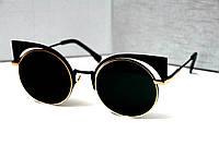 Очки женские от солнца Fendi Paradeyes Черные в золоте, магазин очков