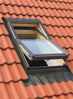 Мансардное окно Oman EN 66x98 + оклад для металлочерепицы KOF