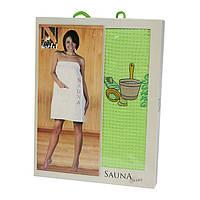Набор для сауны в подарочной коробке Nilteks 75х150