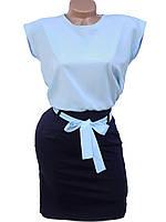 Легкое женское платье в деловом стиле (в расцветках)