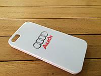 Пластиковый чехол-накладка с логотипом AUDI для  iPhone 5/5s/SE