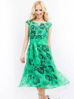 Нарядное женское платье из органзы
