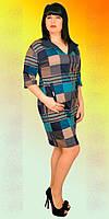Женское платье батальное (Б.Н.З.) Размеры:  52,54,56,58,60