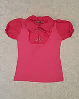 Блуза для девочек с коротким рукавом Малинка