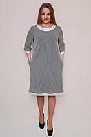 Модное женское платье прямого кроя. Размер: 54, 56, 58