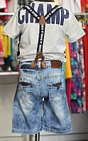 Бриджи джинса с подтяжками