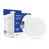 Промо набор Светодиодных панелей GLOBAL mini 6Вт 3шт