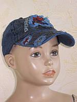 Кепка с козырьком летняя джинсовая для мальчика, размер 50-54 см.