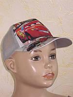 Кепка с козырьком для мальчика ТАЧКИ, размер 52-54 см.