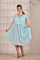 Платье ментоловое Испания (размеры 42-74)