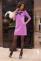 Женское трикотажное платье с карманами и рукавами три четверти