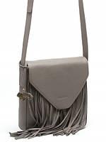 Модная сумка кожаная через плечо с бахромой в 3х цветах L-9540-1