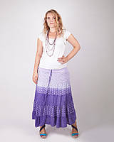 Нежная модная летняя юбка  в пол -сарафан  , фиолетовая