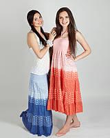 Нежная модная летняя юбка  в пол -сарафан  ,коралловая