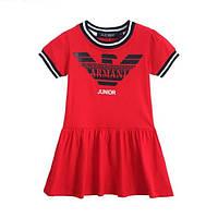 Платье детское для девочки с принтом Армани короткий рукав
