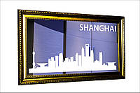 """Зеркало в прихожую """"Города мира - Шанхай"""""""